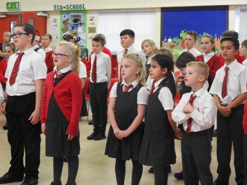 The children rehearsing